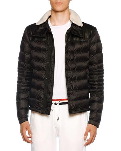 89edd4db49a9 Men's Vasserot Fur-Trim Puffer Jacket Quick Look. Moncler