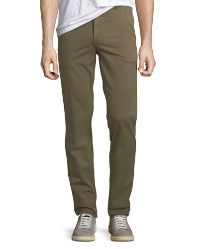 Men's Standard Issue Fit 2 Mid-Rise Relaxed Slim-Fit Chino Pants, Green Army