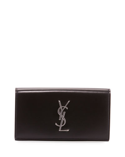 Men's YSL Logo Flap Wallet