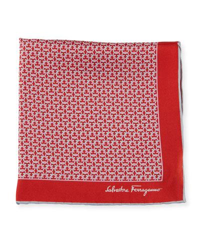 Men's Allgancio Pocket Square, Red