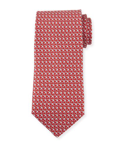 Giugno Birds Tie, Red