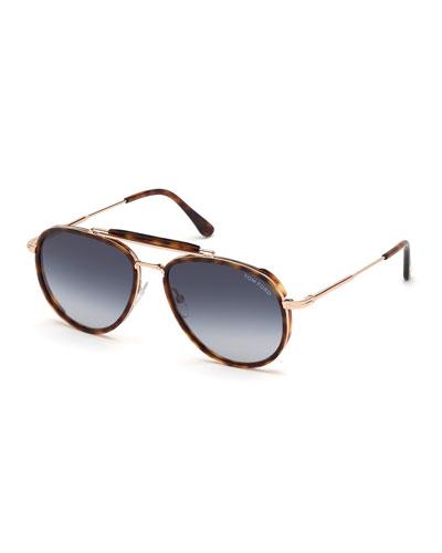 Men's Tripp Tortoiseshell Aviator Sunglasses