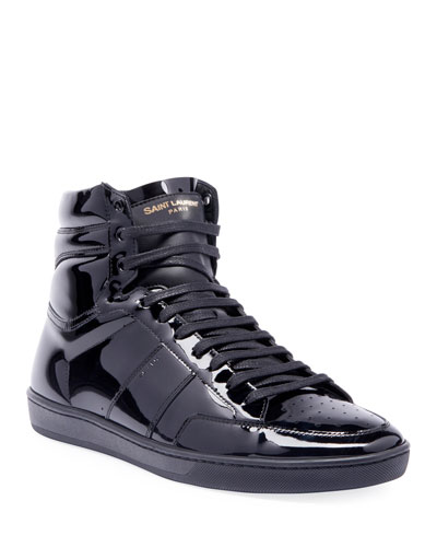 Men's SL10H Patent Leather High-Top Sneakers