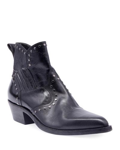 Men's Dakota Studded Leather Boots