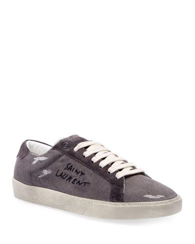 Men's Canvas Low-Top Sneakers