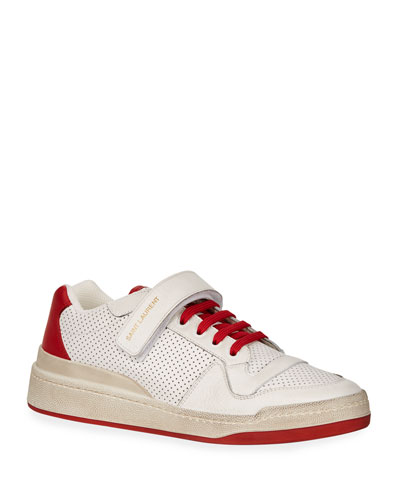 Men's Travis Leather Grip-Strap Sneakers