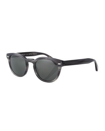 Men's Sheldrake Round Polarized Sunglasses - Charcoal Tort
