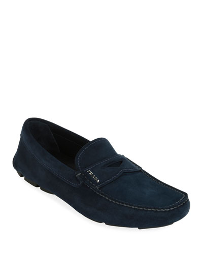 023b173fb57 Prada Rubber Sole Shoes. Men s Suede Driver Shoes