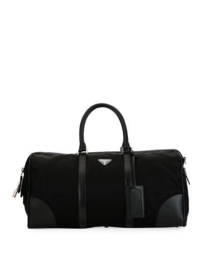 Men's Nylon & Saffiano Duffel Bag