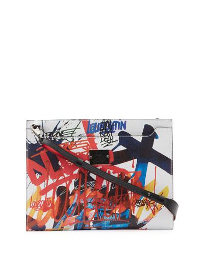 Men's Skypouch Graffiti Graphic Pouch Bag