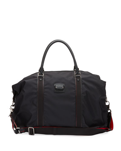 Men's Paris Loubicity Nylon & Calf Leather Weekender Bag