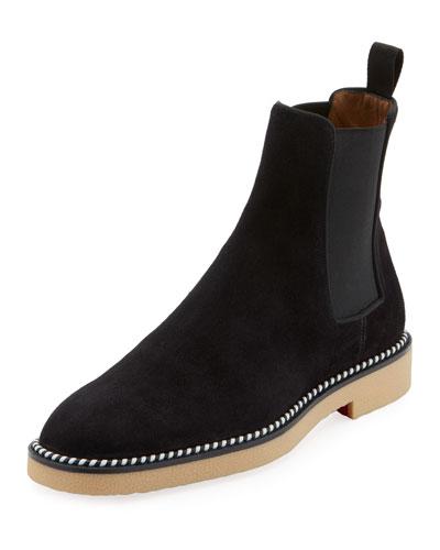 Men's Chelsea Crepe-Sole Suede Boots