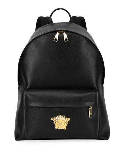 Men's Leather Medusa Backpack