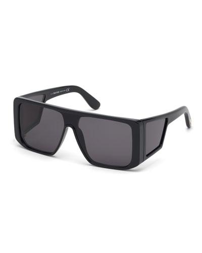 Men's Atticus Wide Plastic Sunglasses