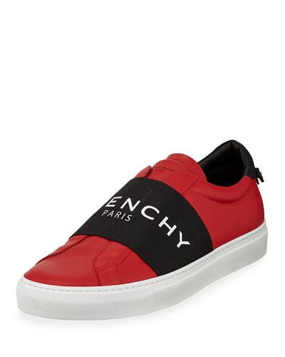 Men's Urban Street Elastic Slip-On Sneakers, Red/Black