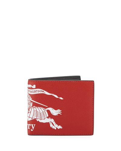 Men's Graphic-Print Leather Bi-Fold Wallet