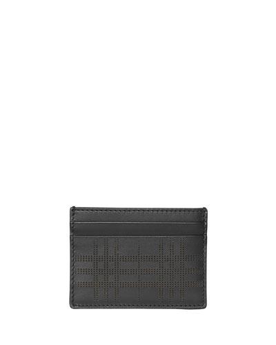 063ddc165fb3 Men's Sandon Perforated Check Card Case, Black