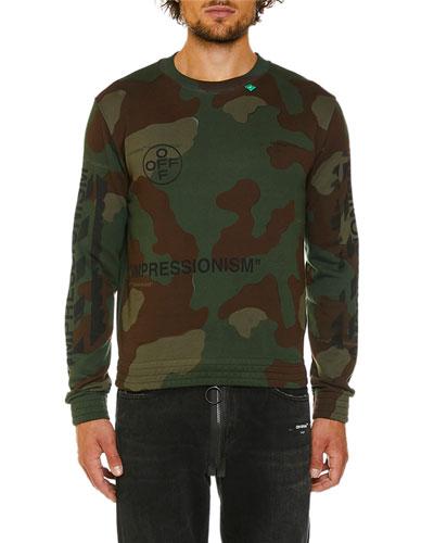 Men's Camo Diagonal-Arrows Sweatshirt