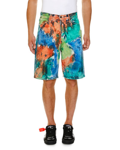 Men's Denim Multicolor Shorts