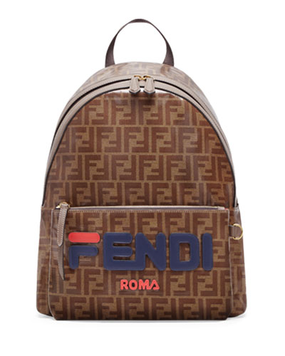 de12c35c8ca2 Men s Fendi Mania Coated Canvas Backpack