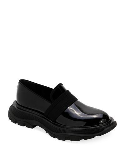 Men's Leather Thick Rubber Sole Dress Shoe