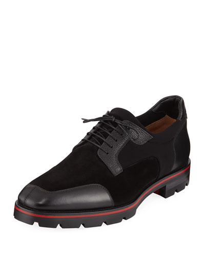 03c239ed448a Men s Simon Neoprene Leather Lace-Up Shoes Quick Look. Christian Louboutin