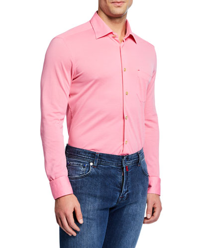 Men's Pique Pocket Sport Shirt
