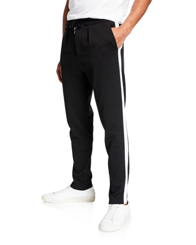 Men's Spa Pants with Contrast Side Stripes