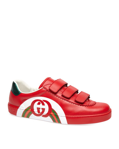 c4c6472a107 Men s Leather Grip-Strap Sneakers Quick Look. Gucci