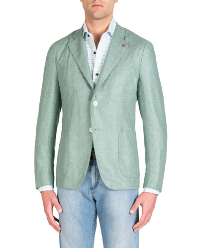 Men's Sage Silk Blazer