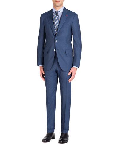 Men's Solid Stretch Two-Piece Suit