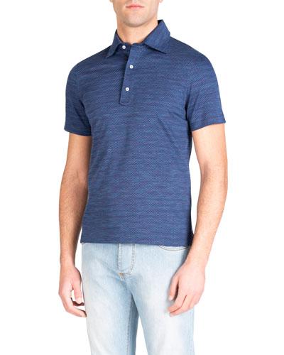 Men's Parquet Check Polo Shirt