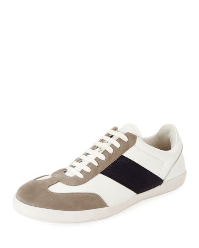Men's Tricolor Low-Top Sneakers
