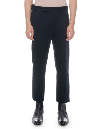 Men's Cotton Twill Straight-Leg Trousers