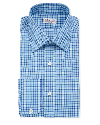 Men's Tattersall Long-Sleeve Dress Shirt