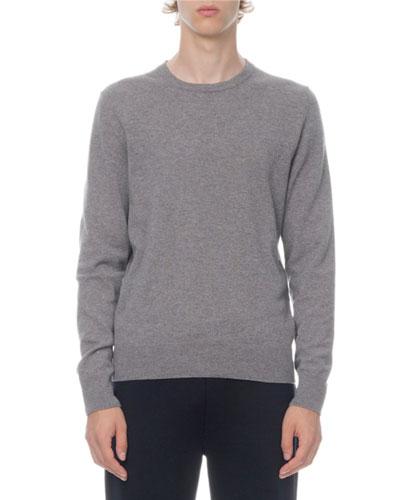 Men's Crewneck Knit Long-Sleeve T-Shirt