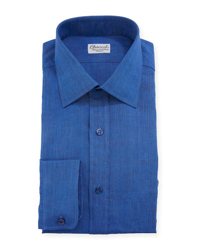 Men's Linen Dress Shirt