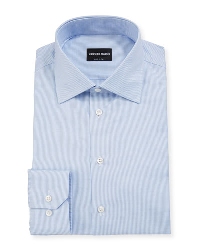 Men's Micro-Stripe Cotton Dress Shirt