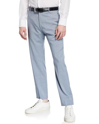 Men's Tropical Wool Crop Pants