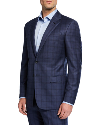 Men's Two-Piece Plaid Suit