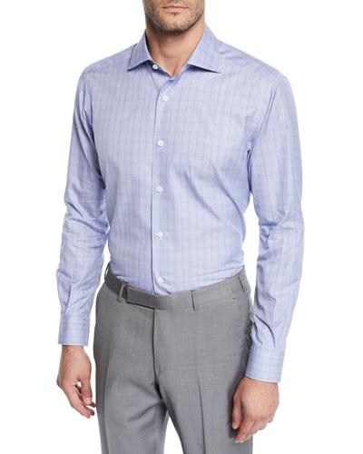 Men's Grid Woven Sport Shirt