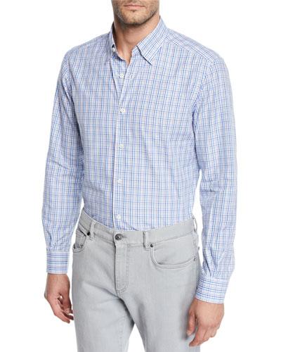 Men's Cento Quaranta Check Cotton Sport Shirt