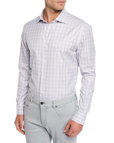 Men's Traveler Check Sport Shirt