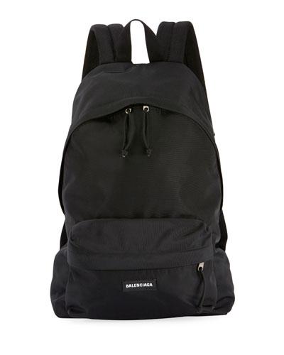 Men's Explorer Logo-Patch Backpack