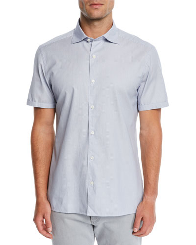 Men's Woven Short-Sleeve Sport Shirt