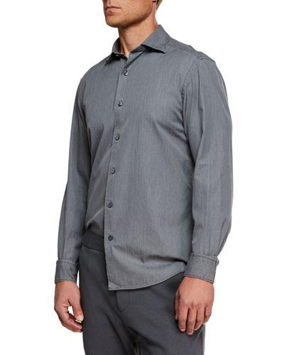 Men's Denim Sport Shirt