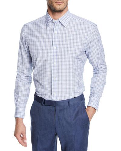 Men's Vichy Check Cotton Sport Shirt
