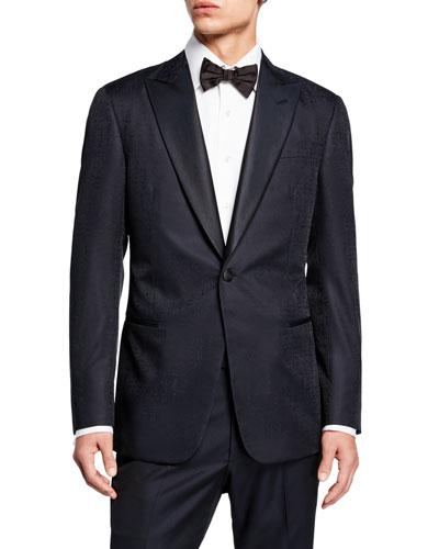 Men's Solid Watermark Dinner Jacket