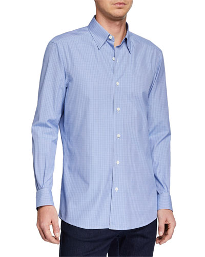 Men's Microcheck Sport Shirt