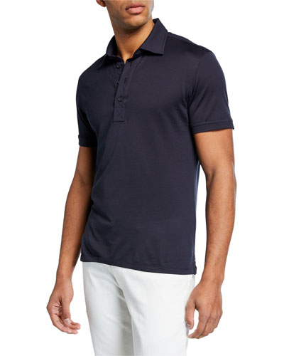 Men's Leggerissimo Cotton Polo Shirt, Navy